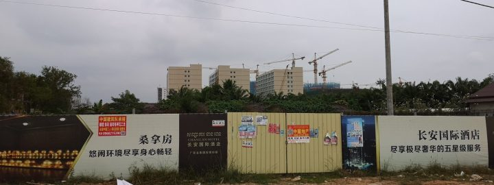 Big Chinese hotels being build in Otres, Sihanoukville
