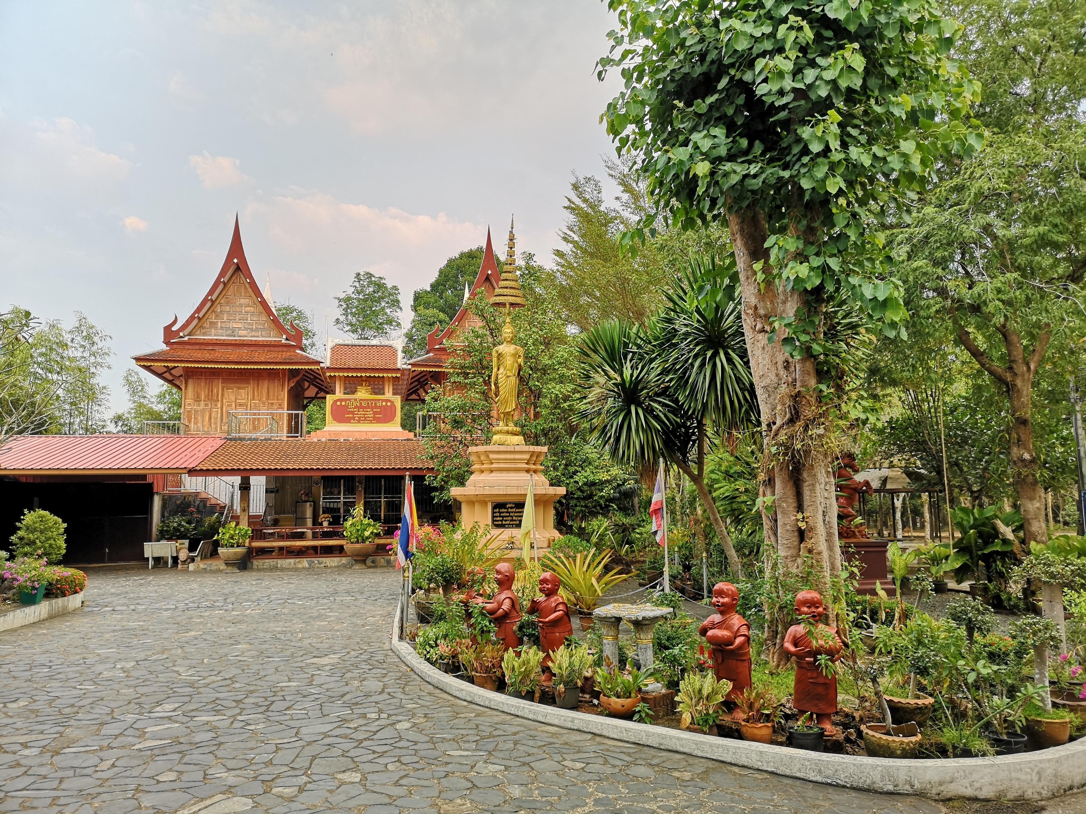 Wat Buppharam temple in Trat, Thailand