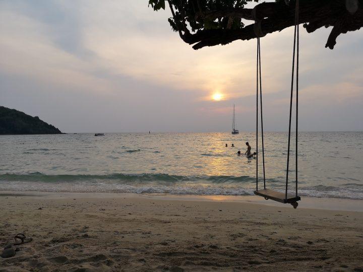 Sunset swim at Koh Samet, Thailand